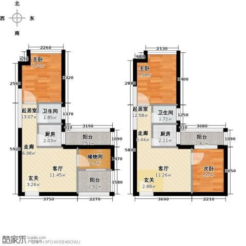 葵花里3室0厅2卫2厨77.28㎡户型图