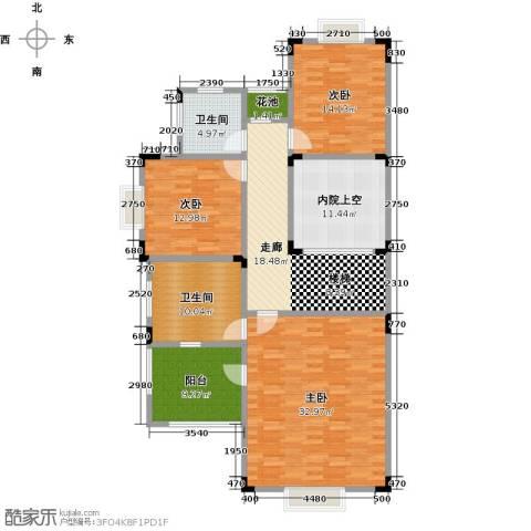 晋愉碧怡林畔东岸3室0厅2卫0厨161.00㎡户型图