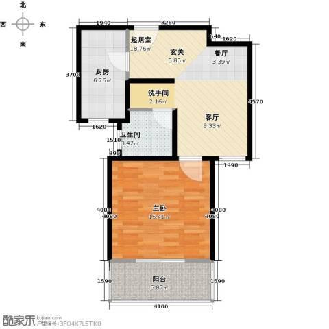 骏丰玲珑坊1室0厅1卫1厨69.00㎡户型图