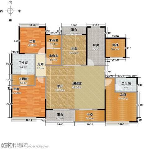 绿地新里派克公馆4室0厅2卫1厨145.00㎡户型图