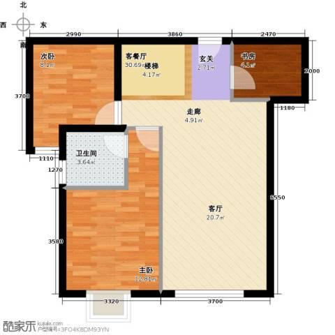 珠江拉维小镇3室1厅1卫0厨83.00㎡户型图