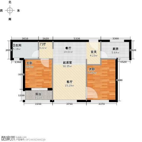 万科金域华府三期2室0厅1卫1厨94.00㎡户型图