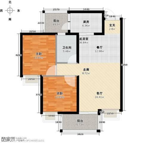 九龙1号2室0厅1卫1厨120.00㎡户型图