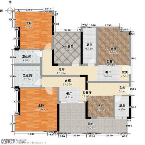 天御2室2厅2卫2厨193.00㎡户型图