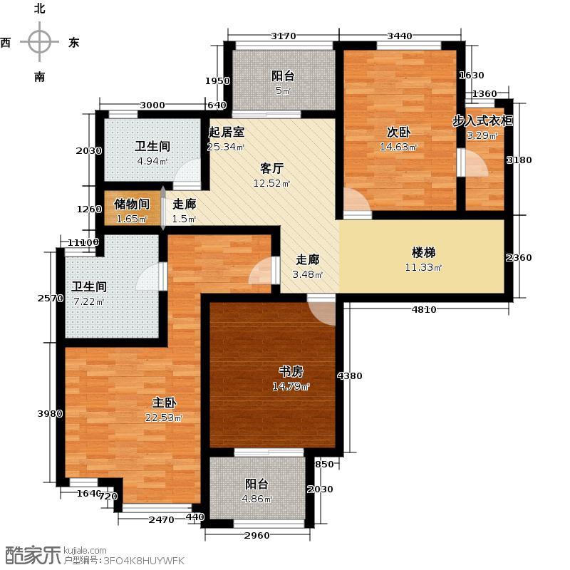 江与城复式--跃二层-12套户型3室2卫