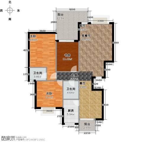 祥和御馨园二期3室1厅2卫1厨157.00㎡户型图