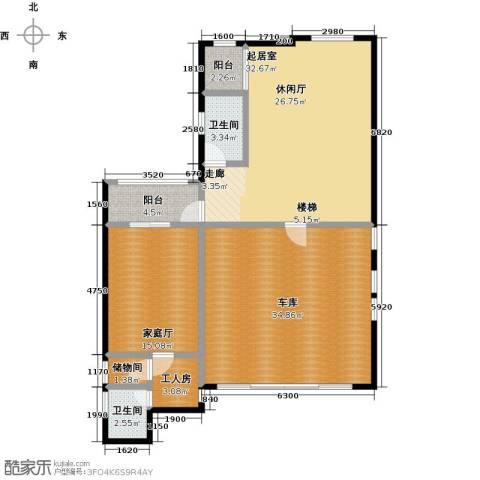 庆隆南山高尔夫国际社区2卫0厨138.00㎡户型图