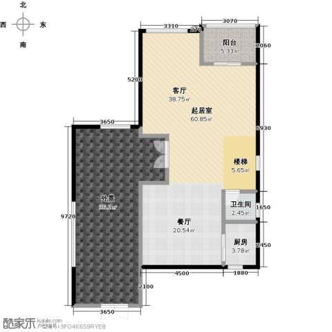庆隆南山高尔夫国际社区1卫1厨148.00㎡户型图