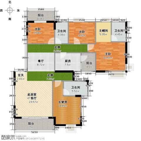 金色华庭(新中银二期)3室0厅3卫1厨189.00㎡户型图