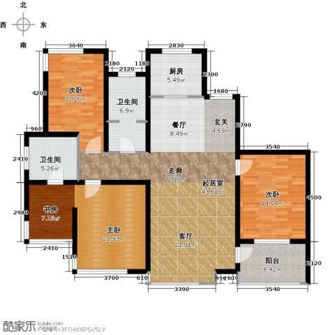 松江运河城3室0厅2卫1厨161.00㎡户型图