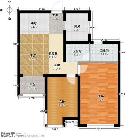 松江运河城2室0厅1卫0厨97.00㎡户型图