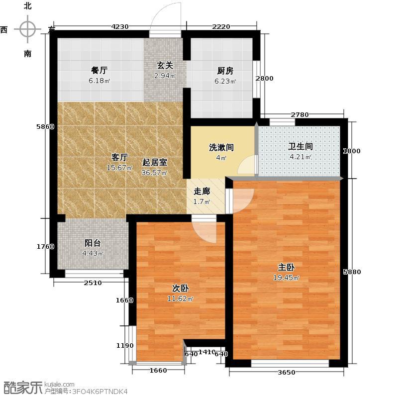 松江运河城户型2室1卫