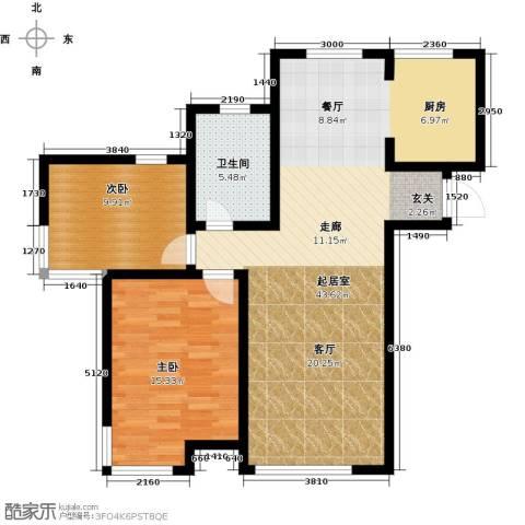 松江运河城2室0厅1卫0厨106.00㎡户型图