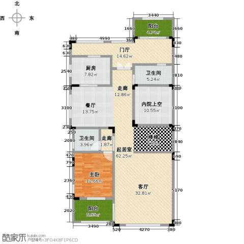 晋愉碧怡林畔东岸1室0厅2卫1厨182.00㎡户型图