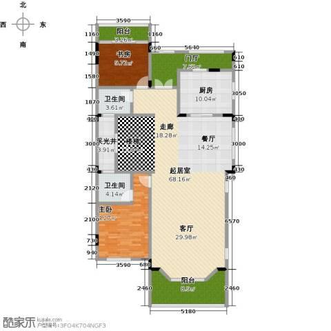 晋愉碧怡林畔东岸2室0厅2卫1厨186.00㎡户型图
