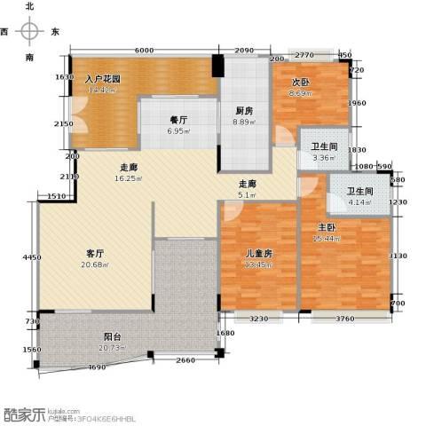花季华庭3室0厅2卫1厨182.00㎡户型图