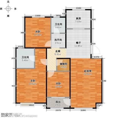 顶秀美泉小镇3室0厅2卫1厨130.00㎡户型图