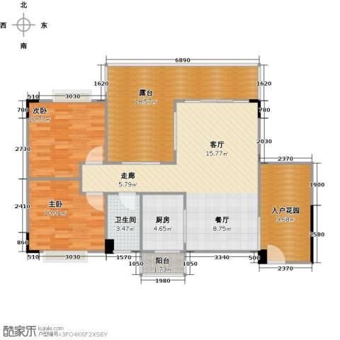 花季华庭2室0厅1卫1厨118.00㎡户型图