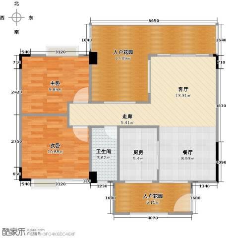花季华庭2室0厅1卫1厨107.00㎡户型图