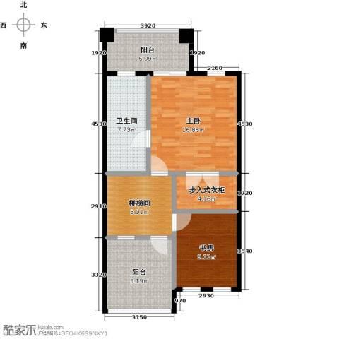 庆隆南山高尔夫国际社区2室0厅1卫0厨88.00㎡户型图