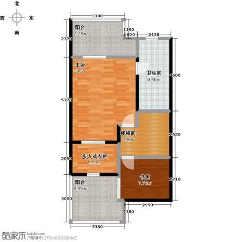 庆隆南山高尔夫国际社区2室0厅1卫0厨92.00㎡户型图