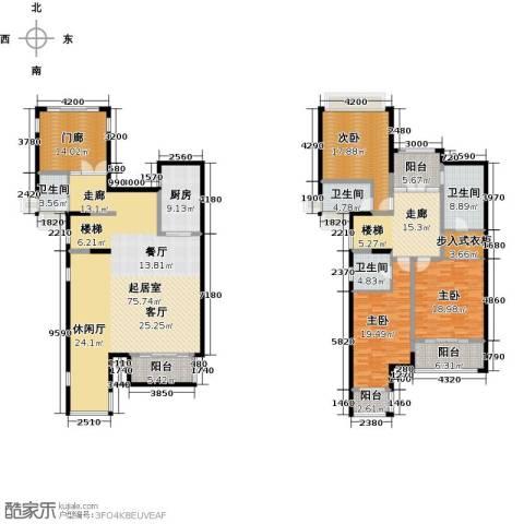 雅居乐国际花园二期3室0厅4卫1厨226.00㎡户型图