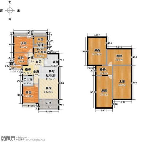 雅居乐国际花园二期3室0厅1卫1厨201.70㎡户型图