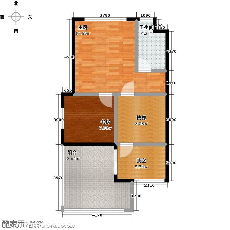 金科城31.00㎡B1六层平面图户型2室1卫