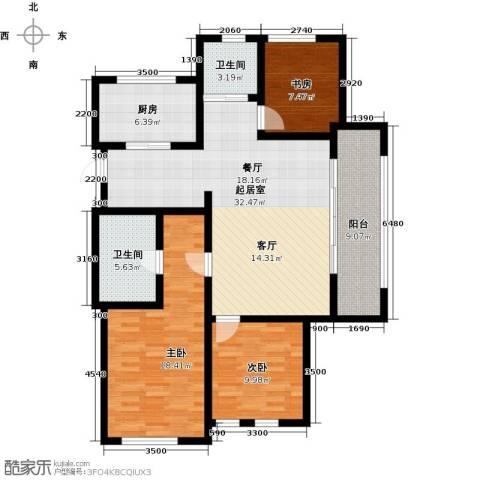 绿城乌镇雅园3室0厅2卫1厨128.00㎡户型图
