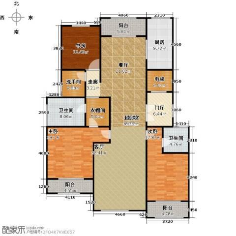 上河湾3室0厅2卫1厨183.00㎡户型图