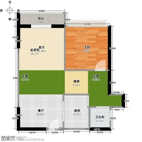城市风景三期1室0厅1卫1厨71.00㎡户型图