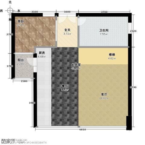 葡萄庄园左岸1室0厅1卫0厨86.00㎡户型图