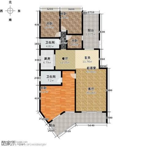 富德居4室0厅2卫1厨165.52㎡户型图