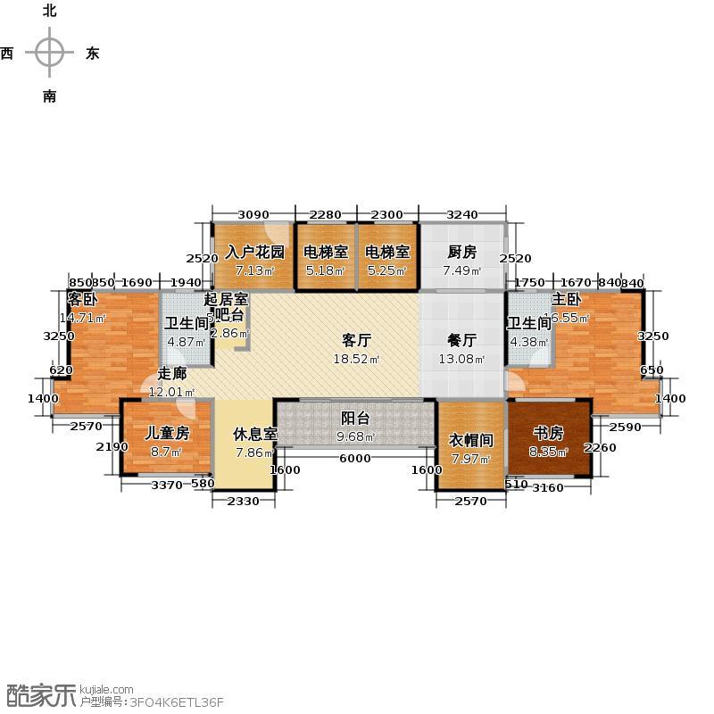深业东城国际A7型户型4室2卫1厨