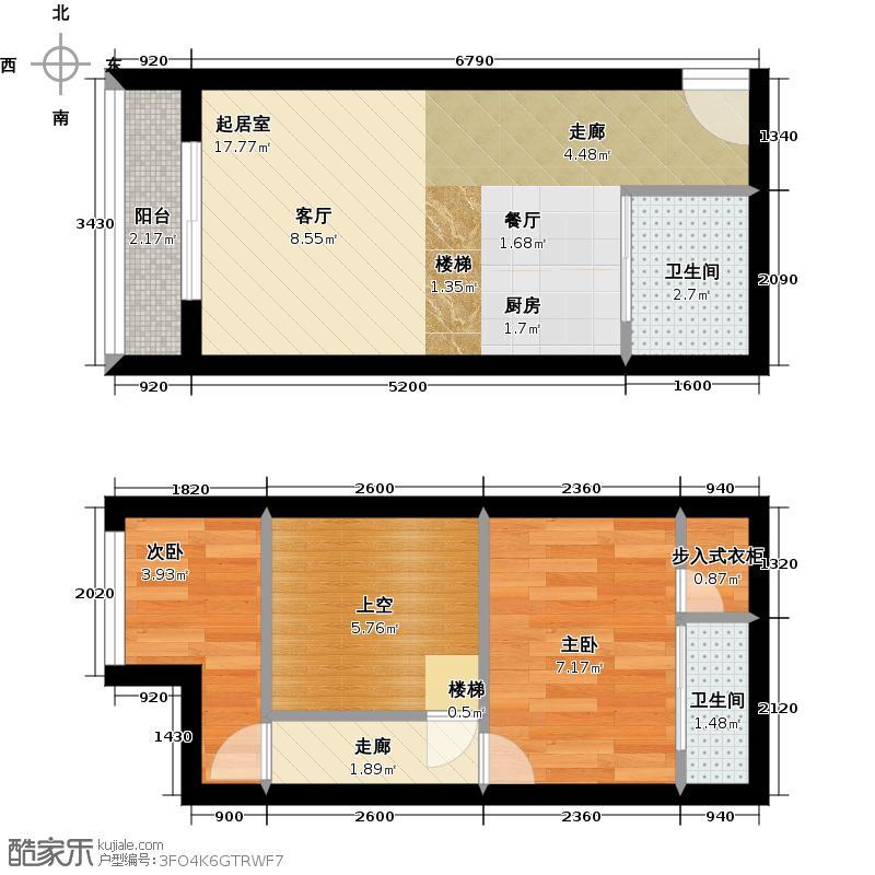 东方慧谷D户型2室2卫