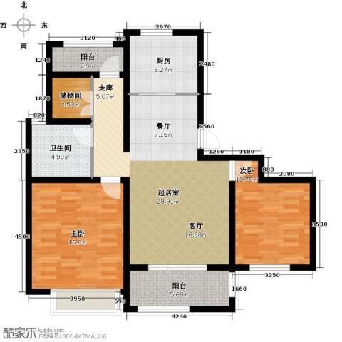 绿地路易宫2室0厅1卫1厨90.00㎡户型图