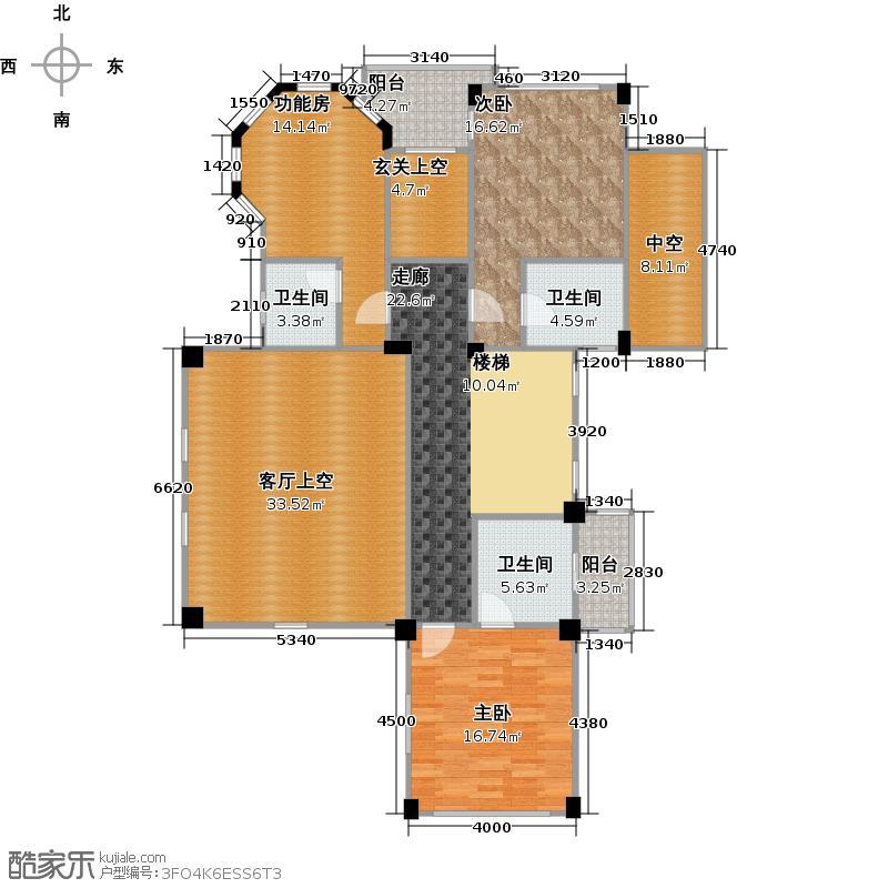 卓越蔚蓝城邦39-41栋0103单位42栋01单位E二层户型2室3卫