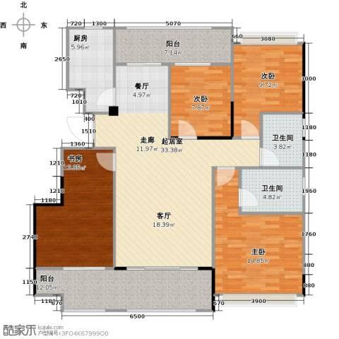 阳光100芒果TOWN4室0厅2卫1厨129.00㎡户型图
