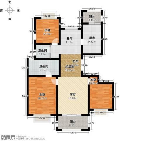 保利叶之林3室0厅2卫1厨125.00㎡户型图