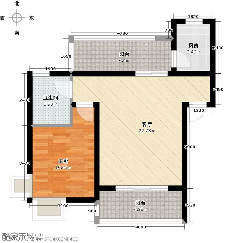 立立依山郡10号楼A栋6-16-2B栋6-16-2C栋6-户型1室1厅1卫1厨