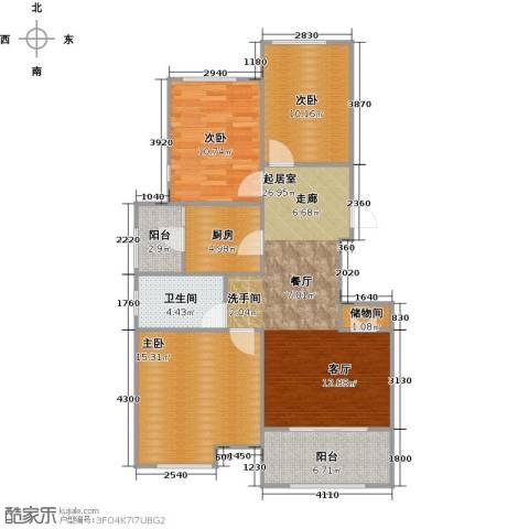 中建公元壹号3室0厅1卫1厨90.00㎡户型图