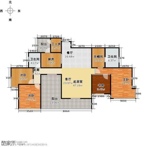 骏逸第一江岸孔雀湾二期4室0厅2卫1厨200.00㎡户型图