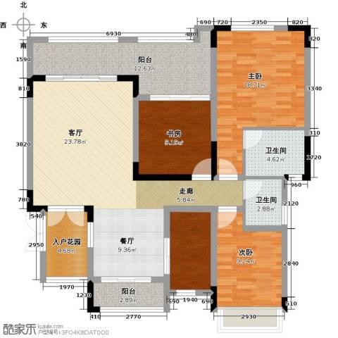 锴泽四季花城3室1厅2卫1厨149.00㎡户型图