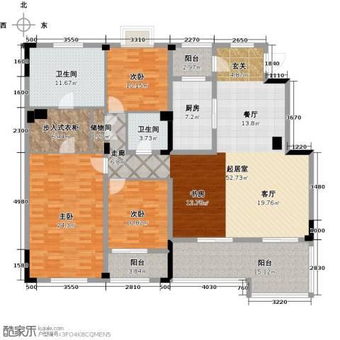 绿城玉兰公馆3室0厅2卫1厨176.00㎡户型图