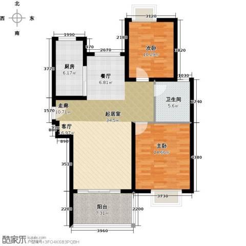三湘森林海尚2室0厅1卫1厨89.00㎡户型图