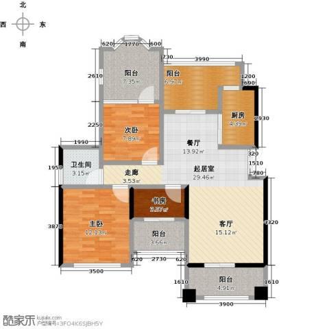 奥园水云间3室0厅1卫1厨85.00㎡户型图