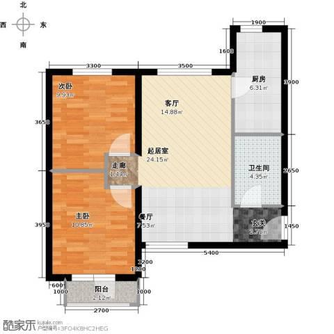 首开智慧社2室0厅1卫1厨89.00㎡户型图