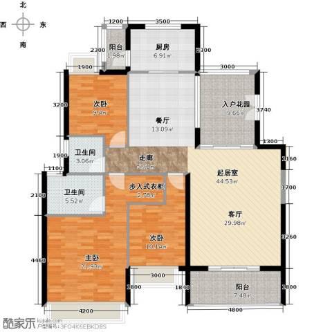 花都颐和山庄3室0厅2卫1厨159.00㎡户型图