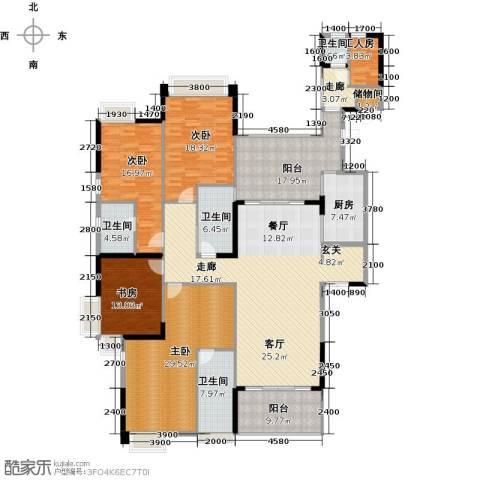 龙泉豪苑4室1厅4卫1厨240.00㎡户型图