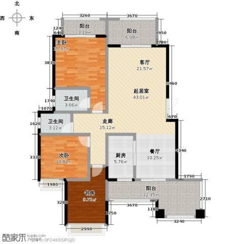 奥园水云间3室0厅2卫1厨127.00㎡户型图